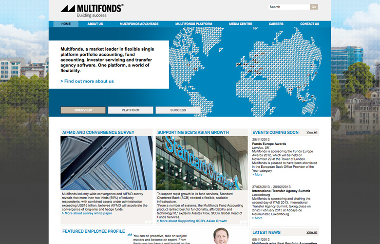 Multifonds Website ~ View details
