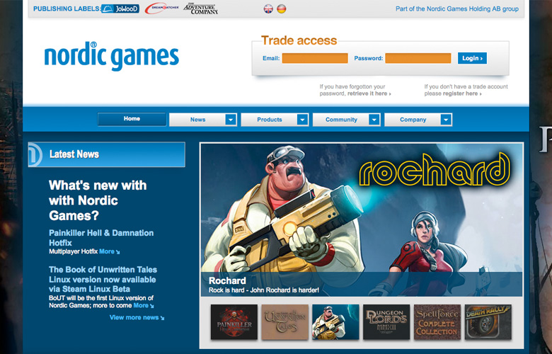 Nordic Games GmbH Website ~ View details