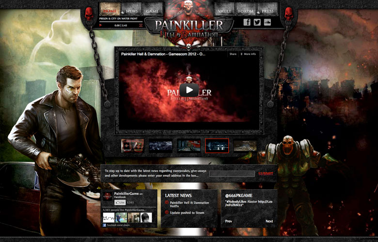 Painkiller Website ~ View details