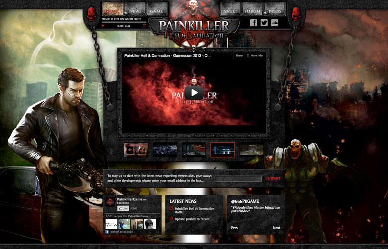 Painkiller Website ~ View details