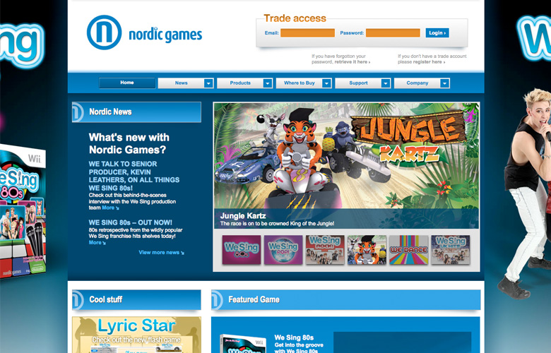 Nordic Games Website ~ View details