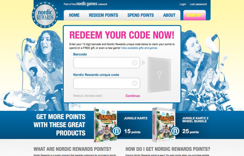 Nordic Rewards Website ~ View details