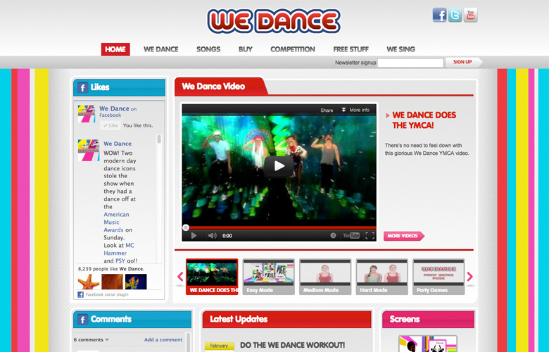 We Dance Website ~ View details