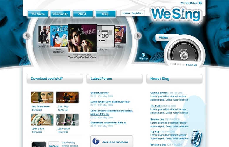 We Sing Website ~ View details