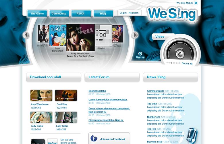 We Sing Website ~ View details