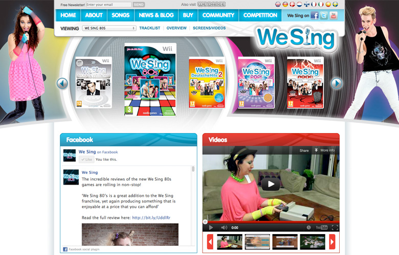 We Sing Website Refresh ~ View details