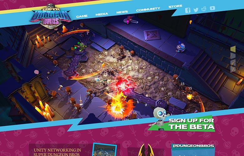 Super Dungeon Bros Website ~ View details