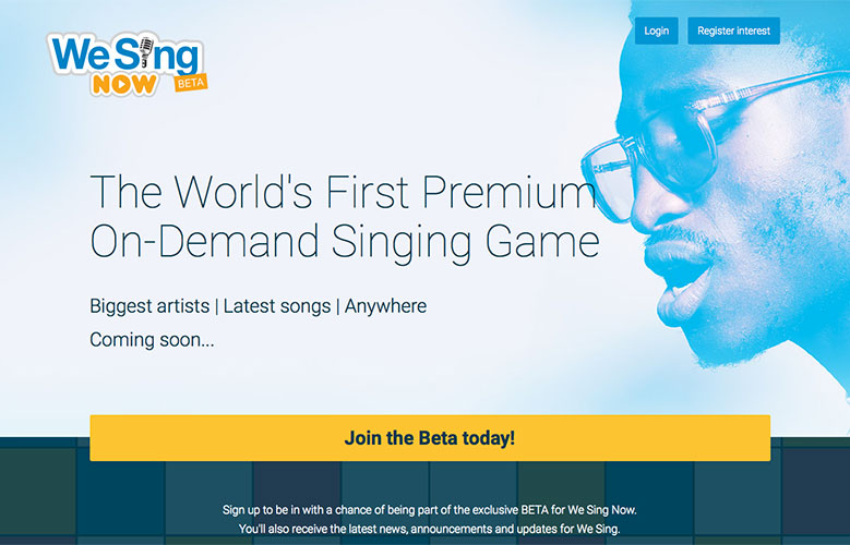 We Sing Now Website ~ View details